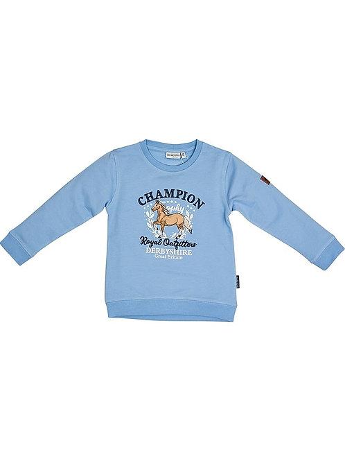 Salt and Pepper Sweatshirt Pferde hellblau