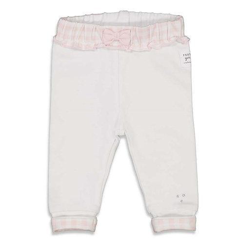 Feetje Hose weiß/rosa
