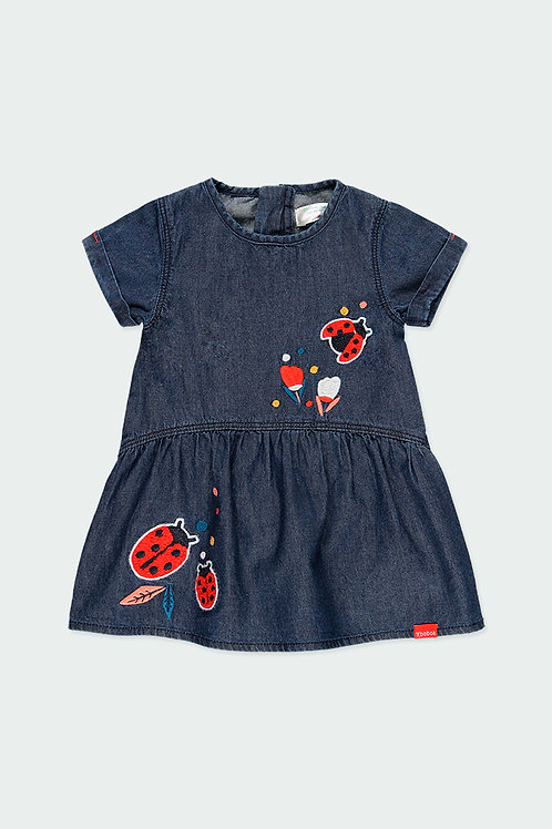 Boboli Jeans - Kleid Marienkäfer