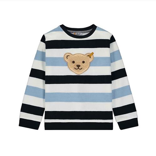 Steiff Pullover Sweatshirt Streifen dunkelblau hellblau