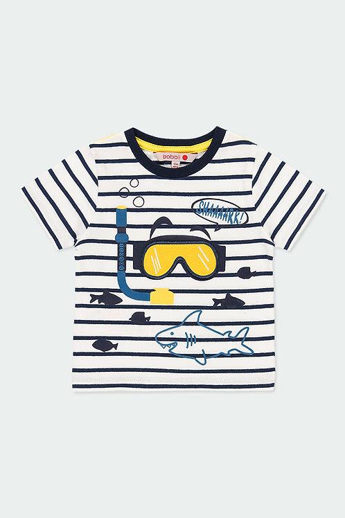 Boboli T-Shirt gestreift Taucherbrille