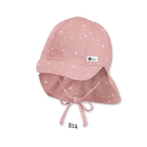Sterntaler Sonnenhut Flapper Nackenschutz rosa