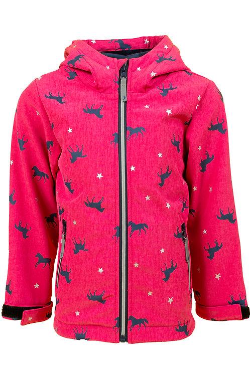 Salt and Pepper  Softshell Jacke pink Pferde