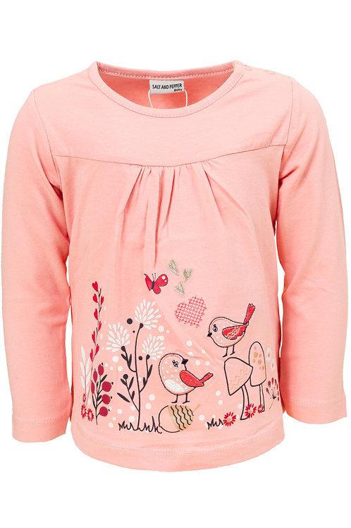 Salt and Pepper Langarm Shirt rosa