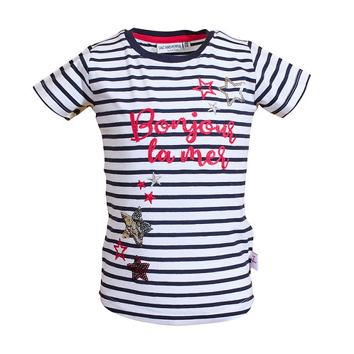 Salt and Pepper T-Shirt Sterne glitzer Streifen