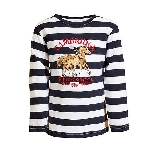 Salt and Pepper Langarm-Shirt Pferde Streifen
