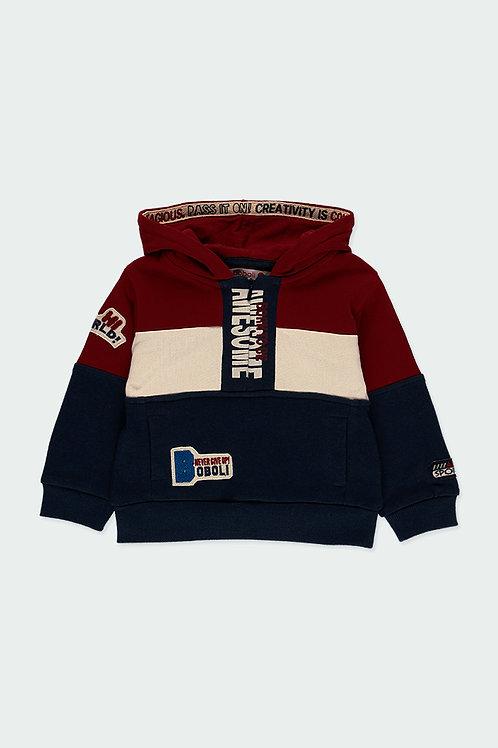 Boboli Sweatshirt Hoody blau, rot
