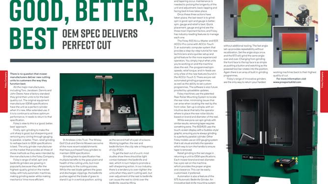 Good, Better, Best - OEM Spec Delivers Perfect Cut