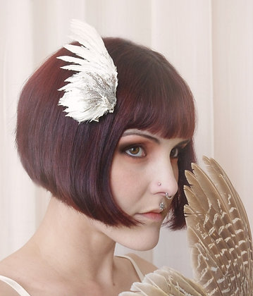 Nature Fairy Bird Wing hair fascinator