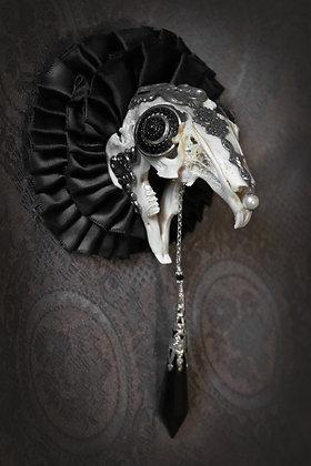 Purging The Darkness gilt rabbit skull original art