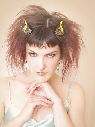 Twin Gemini Bird Wing Hair Fascinators