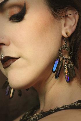 Muted Aura Crystal Gilt Earrings