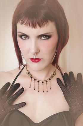 Devil's Gate Black Crystal Necklace