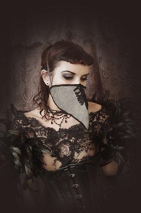 Denim Motif Leather Plague Doctor Mask