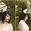 Thumbnail: Dark Bride Bird Wing Pillbox Hat