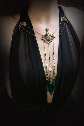 Green Fairy floating crystal necklace