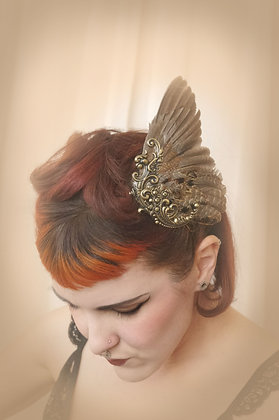 Antique Brass Gilt Bird Wing Fascinator