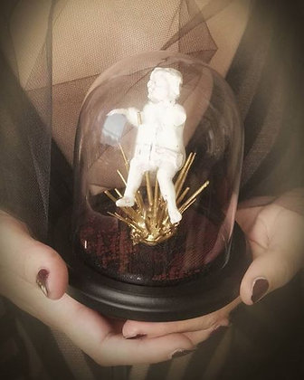 The Hanged Man tarot series major arcana taxidermy art dome glass