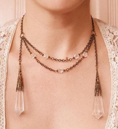 Authentic Quartz Crystal Dagger Necklace