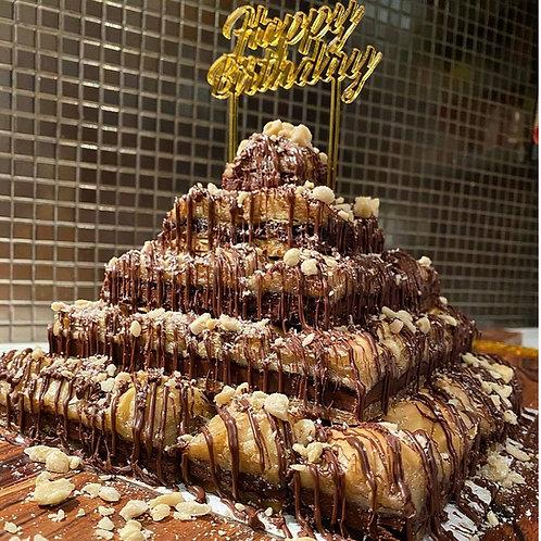 Ferrero Baklava Cake