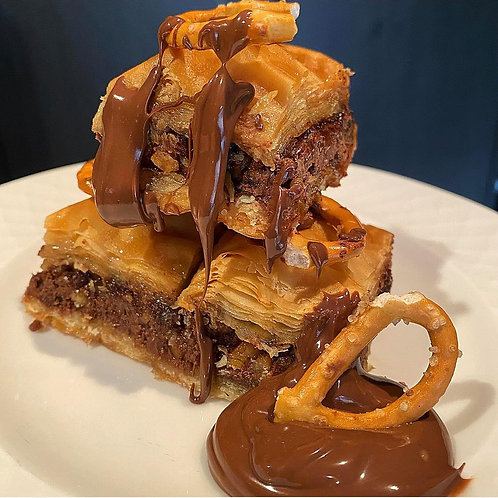 12 pieces of Nutella Pretzel Baklava