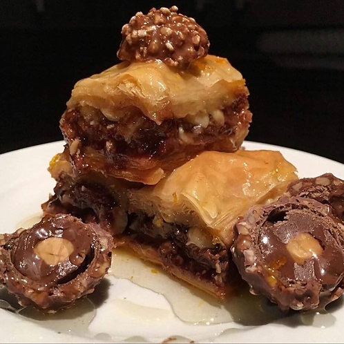 12 pieces of Ferrero Rocher Baklava