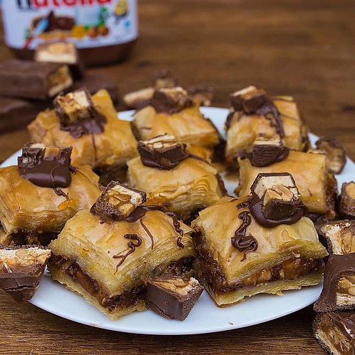 12 piece of Snickers Baklava