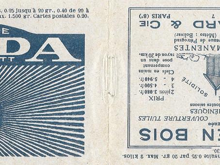 La première indication du changement de tarif de 1925 est manuscrite   !!