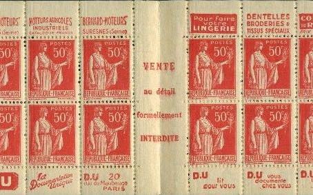 200ème !  variétés multiples sur  carnet  type Paix 283-C30