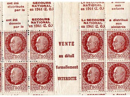 Variété carnet type Pétain