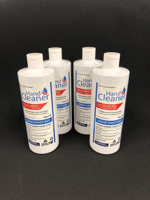 75% Alcohol hand cleaner - 4 x 500ml