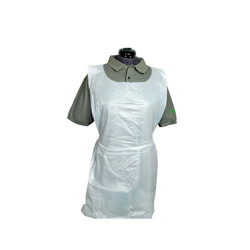 Disposable Polythene Aprons On A Roll  - 200 Pack