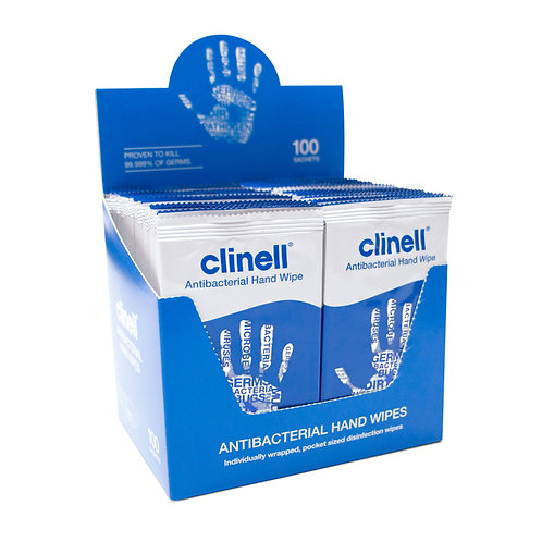 Clinell Anti bacterial wipes - Box 100