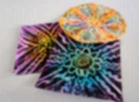 mixed media, batik effects on paper