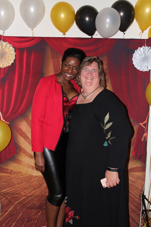 Member Nina Davis and Janine Rauscher