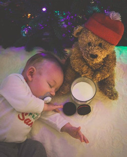 Passed out waiting for Santa