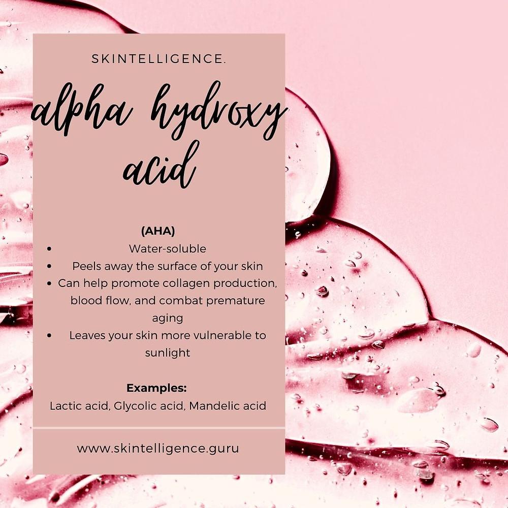 Skincare benefits of alpha hydroxy acids | AHA | Glycolic acid, Lactic acid, Mandelic acid | Skintelligence