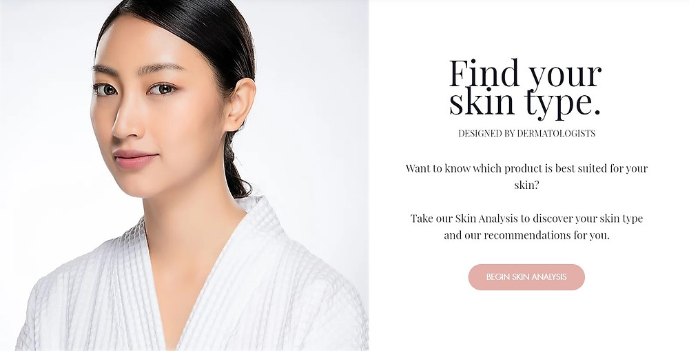 Find your skin type. Skin Analysis.
