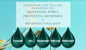 The Moisturizers Co.'s Ultra Pore Refiner Anti-Blemish Night Cream for oily skin.