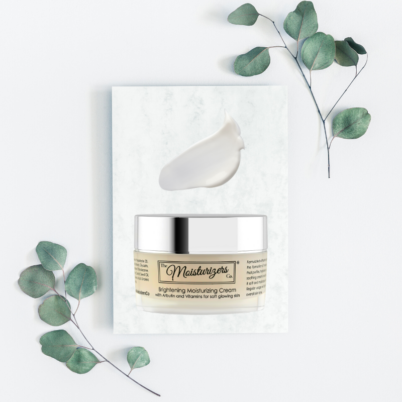 The Moisturizers Co. Brightening Moisturizing Cream with Arbutin and Vitamins for soft, glowing skin | Skintelligence