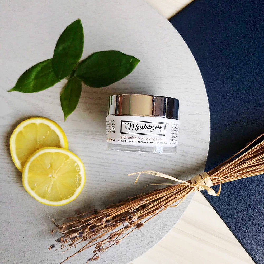 The Moisturizers Co. Brightening Moisturizing Cream with Arbutin and Vitamins for soft glowing skin | Skintelligence