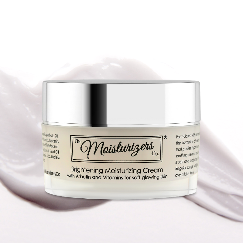 Brightening Moisturizing Cream with Arbutin and Vitamins. Formulated for skin with pigmentation concerns.