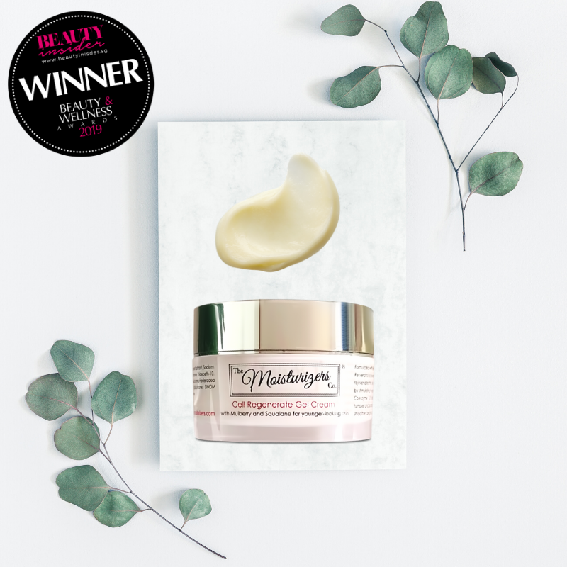 The Moisturizers Co. Cell Regenerate Gel Cream with Mulberry and Squalane for younger-looking skin | Skintelligence