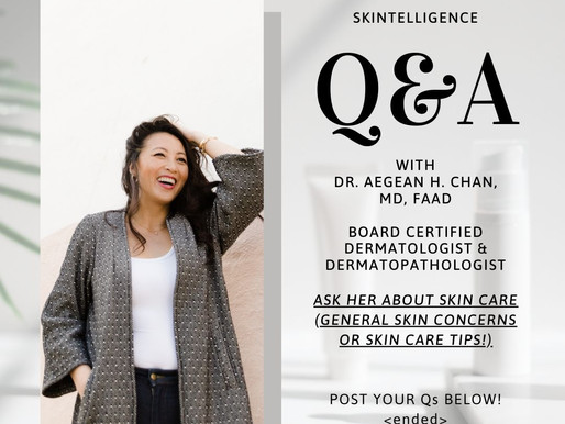 #AskADerm: Q&A with Dr. Aegean Chan on General Skin Concerns