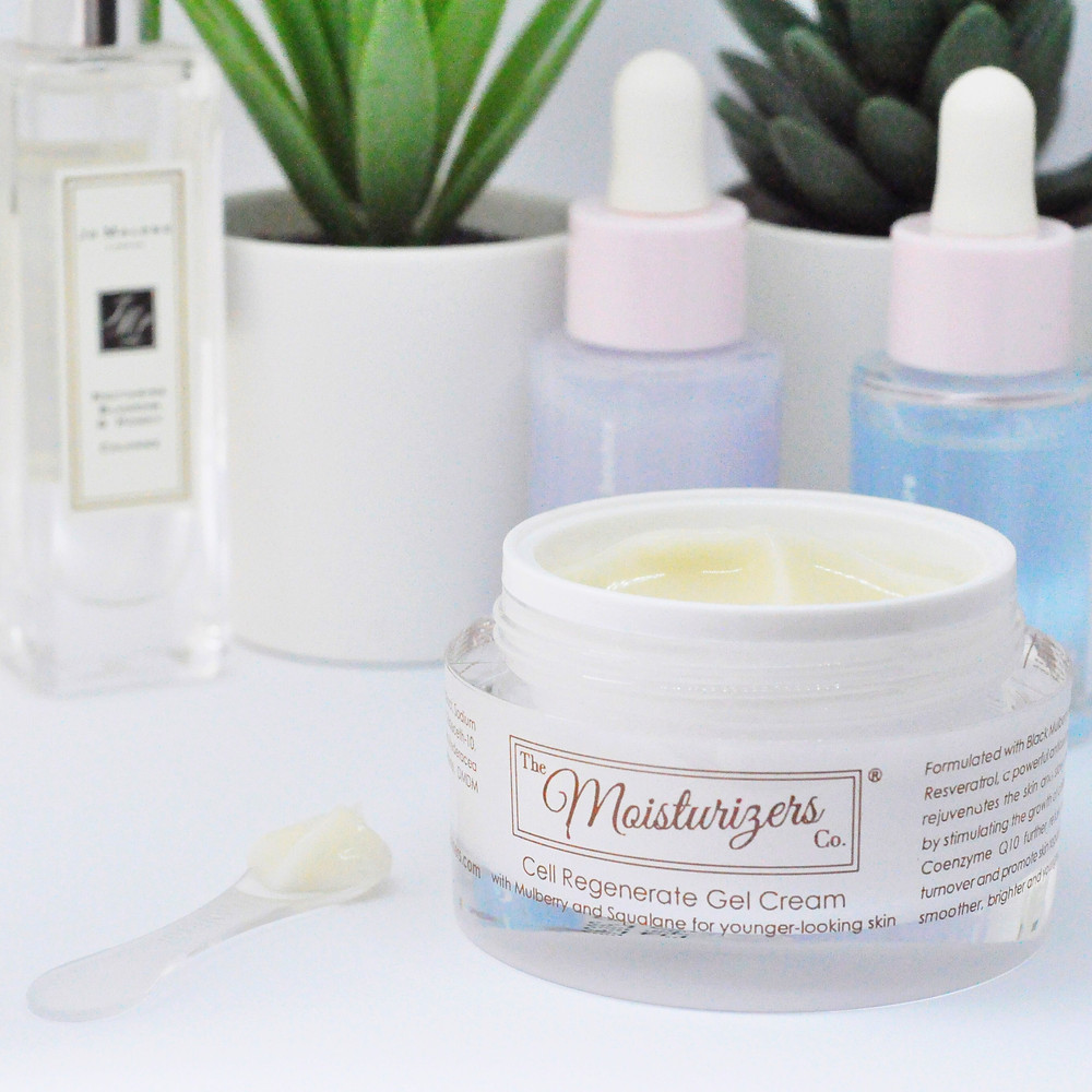 The Moisturizers Co. Cell Regenerate Gel Cream with Mulberry and Squalane for younger-looking skin