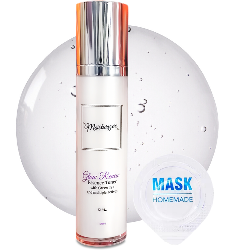 The Moisturizers Co. Glow Renew Essence Toner with Green Tea and Niacinamide for clogged pores