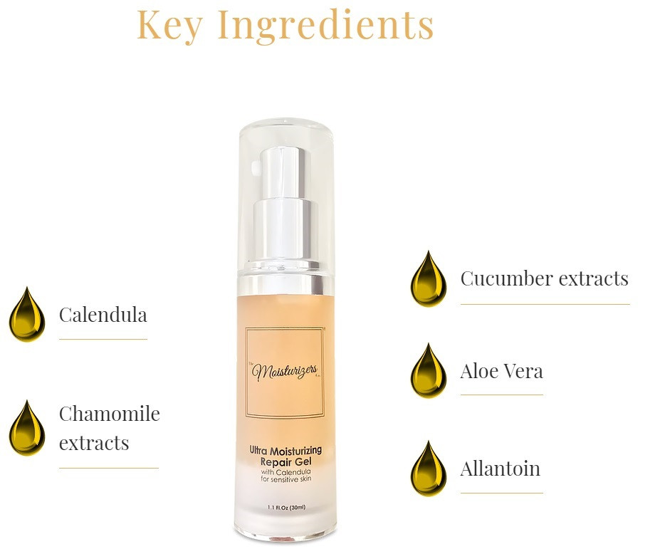 Meet the Ultra Moisturizing Repair Gel with Calendula from The Moisturizers Co. | Skincare blog