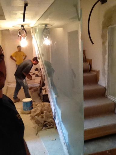 10 mm templado de muro en escalera