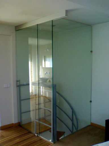 Mampara de vidrio