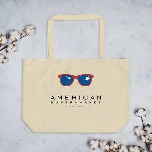 AMERICAN SUPERMARKET - Large organic tote bag